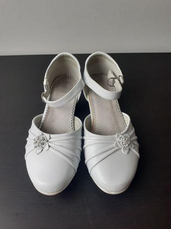 Buty białe dziewczęce 36 komunia