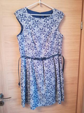 Sukienka Pretty girl błękitna białe kwiaty rozmiar 40