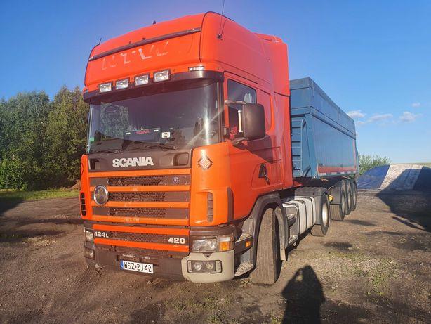 Scania 124L + Naczepa  Frehauf