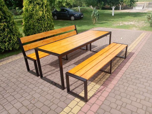 Meble ogrodowe (stół, ławki)