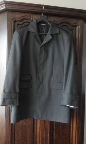 płaszcz czarny męski 182/188 60/ XL wiosna jesień