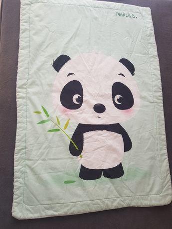 Koc panda kocyk zielony miętowy biały minki ocieplany miki jak La Mill