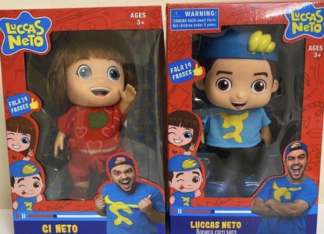 Bonecos do Lucas Neto e Giovaba