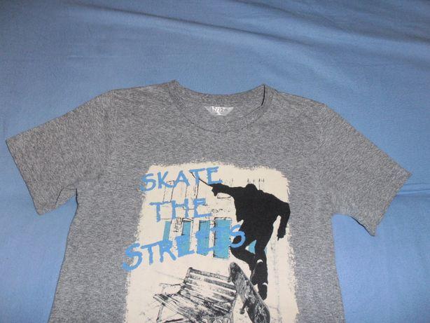 Wygodny szary T-shirt, aplikacja, , 11-12 l, 146/152