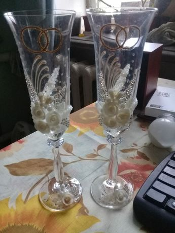 Свадебные бокалы 500 рублей