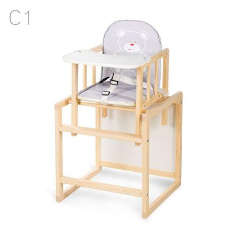 AGA sosna krzesełko do karmienia 2w1