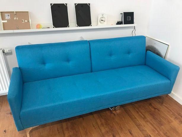 Sofa niebieska rozkładana
