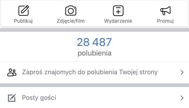 Fanpage Fb Facebook różne 44K 41K 33K 29K