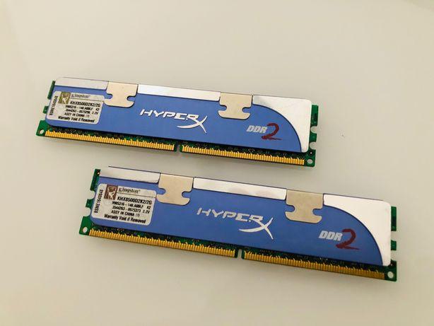 Memórias KINGSTON HyperX 2Gb DDR2 1066Mhz - Socket 775