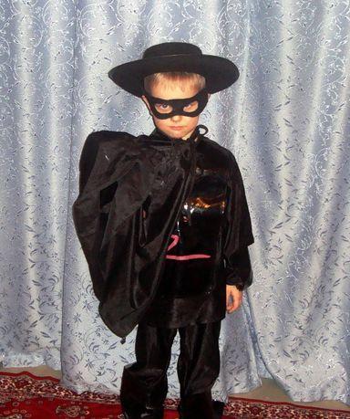 Детский костюм Zorro для детских праздников.