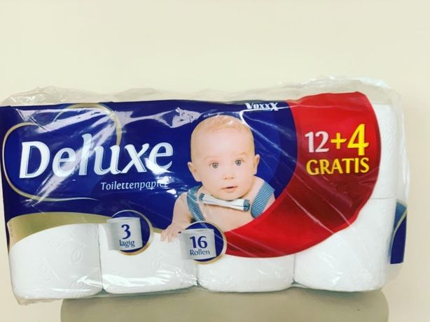 Туалетная бумага Deluxe 16 рулонов, трехслойная туалетная бумага