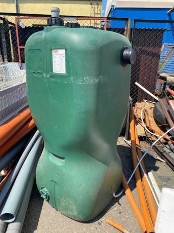 Zbiornik PEHD na deszczówkę naziemny 750L z syfonem przelewowym Roth