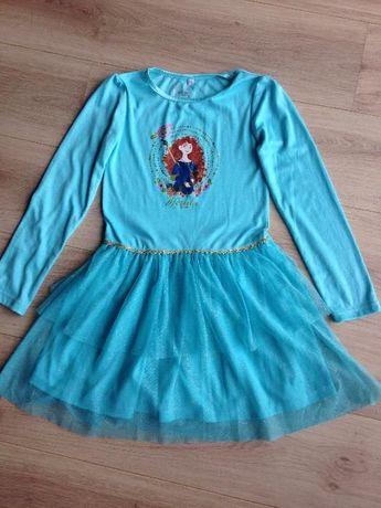 DISNEY Merida Waleczna oryginalna sukienka 9-10 lat