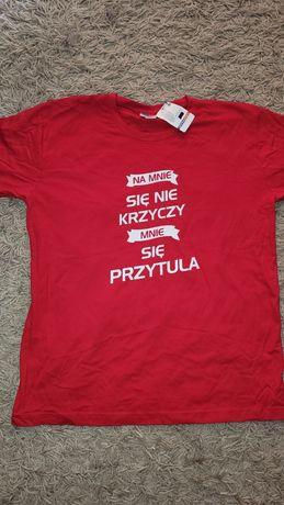 Nowa koszulka T-shirt z napisem rozm. L
