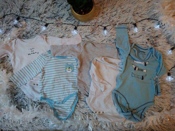 Body niemowlęce długi rękaw rozmiar 62 - 5 sztuk