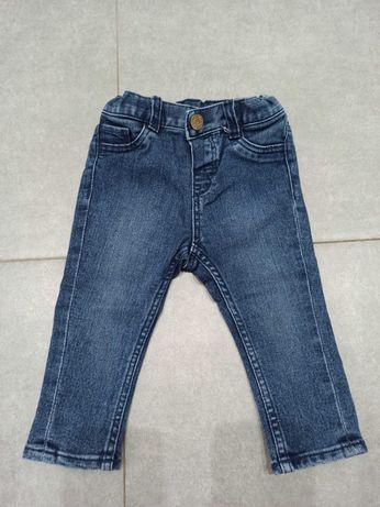 Spodnie jeansy h&m roz. 74