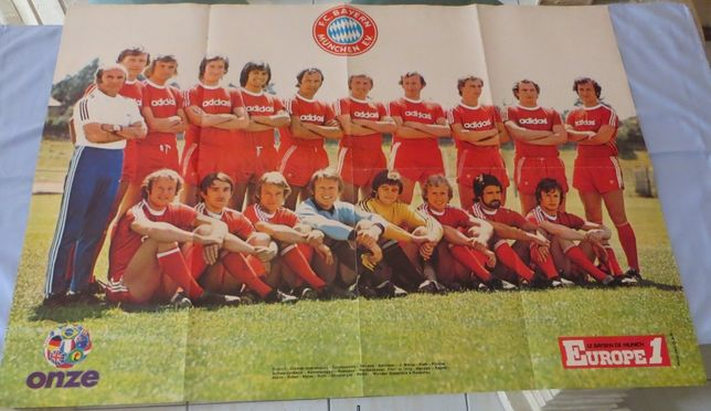 Poster Europe 1 - FC Bayern Munique - Onze Medida: 77 X 56