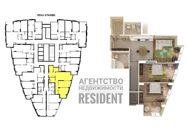 ЖК Панорама 120 м2. Женева Лофт Новодворянский IQ House Комфорт Сити