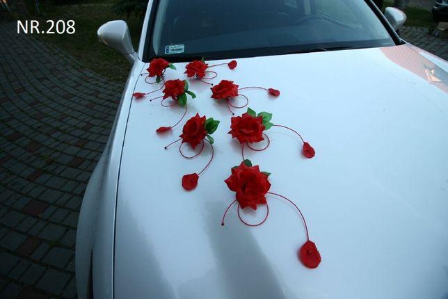 Ozdoba - czerwona dekoracja na samochód WYJĄTKOWA