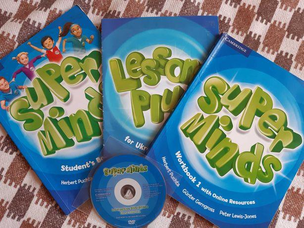 Super Minds английский язык, учебник и рабочая тетрадь, Cambridge 1