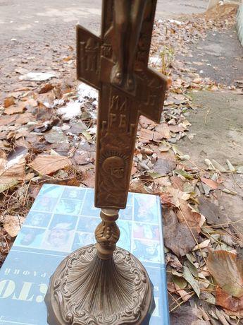 Крест из латуни Распятие