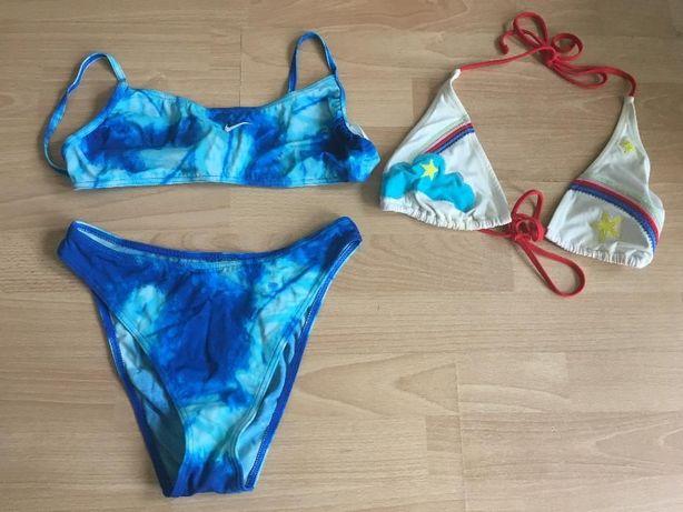 Strój kąpielowy NIKE niebieski 40 + gratis góra bikini w tęczę gwiazda