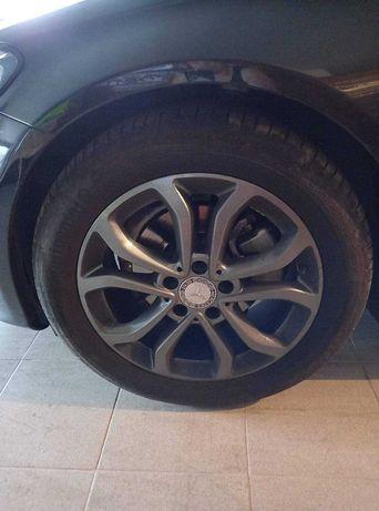 Jantes mercedes 17 com 4 pneus praticamente novos Continental