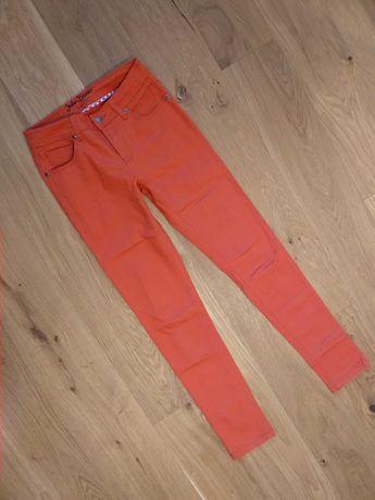Jeansy pomarańczowe rurki 34-36