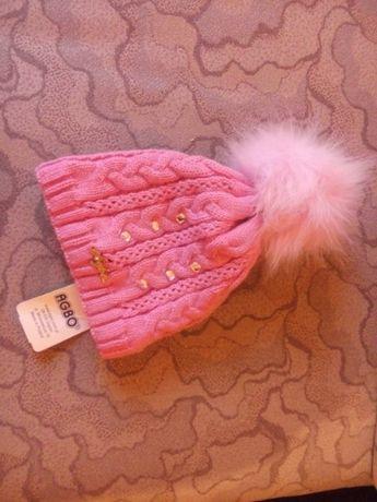 Продам новую детскую шапку на флисе, Польша. 350 руб