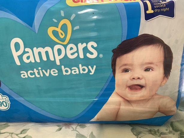 Подгузники памперсы Pampers  active baby 3 90 штук
