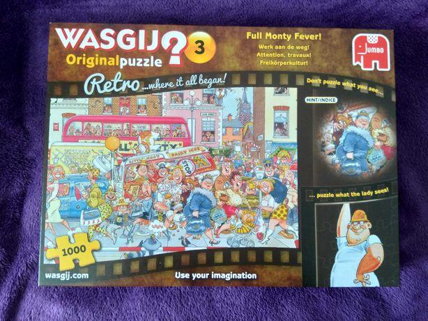 Puzzle Wasgij Original 3 retro Full Monty fever komplet 1000