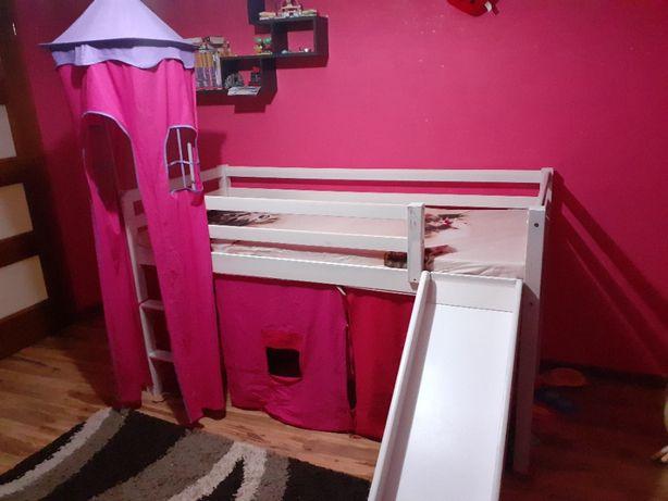 Łóżko dziecięce zamek antresola