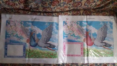 Схема заготовка для вишивки бісером лелека для фото дівч і хлопч