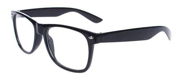 NOWE Okulary Zerówki Klasyczne Czarne Kujonki Nerdy