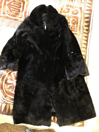 Натуральна жіноча шуба (мутон + норка, 56 розмір, фірма Галант)