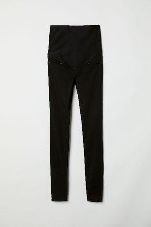 H&M MAMA extra SPODNIE miękkie SKINNY czarne CIĄŻA jeans roz. 38_M