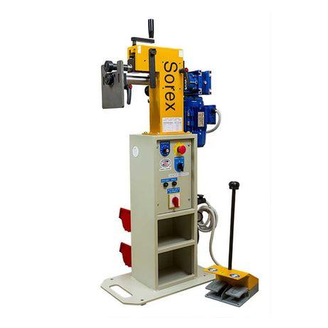 Żłobiarka do blachy elektryczna CWM 50-200 Sorex