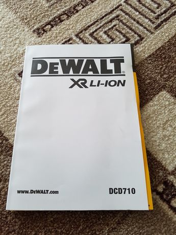 Акумуляторний дриль-шурупокрут DeWalt (DCD710D2/)