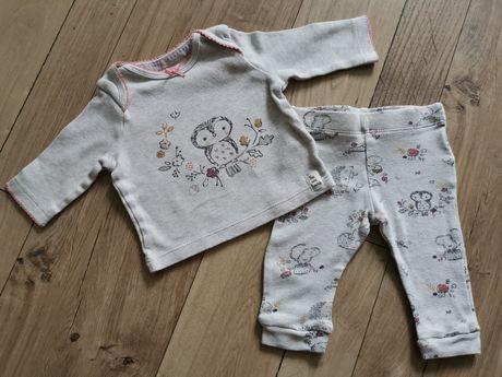 Komplet zestaw bluzka legginsy rozmiar 50-56