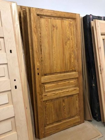 PRZESUWNE drzwi postarzane ryflowane olejowane
