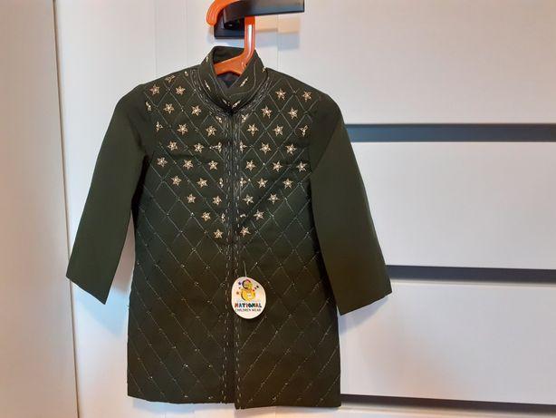 Płaszczyk strój czarnoksiężnika nowy do sesji na bal rozmiar ok. 98