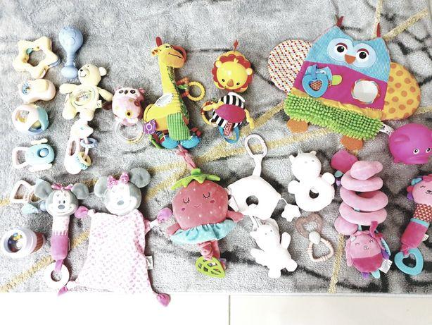 Zestaw komplet zabawek pozytywka gryzak sensoryka  fisher price