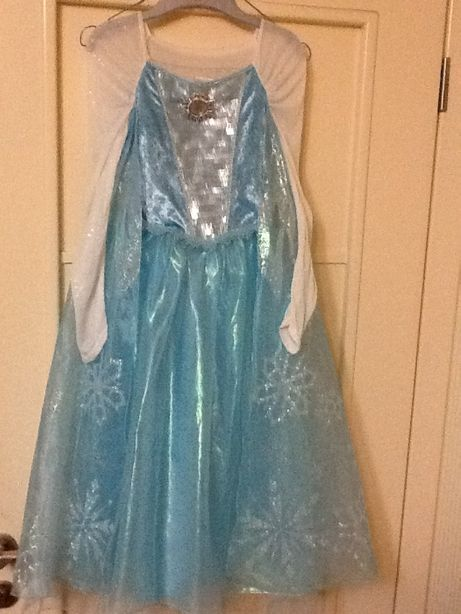 Новогоднее платье Эльза Disney 6-8 лет, 125-135 см. Оригинал