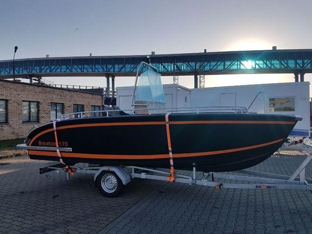 Łódź łódka wędkarska aluminiowa Brave 570