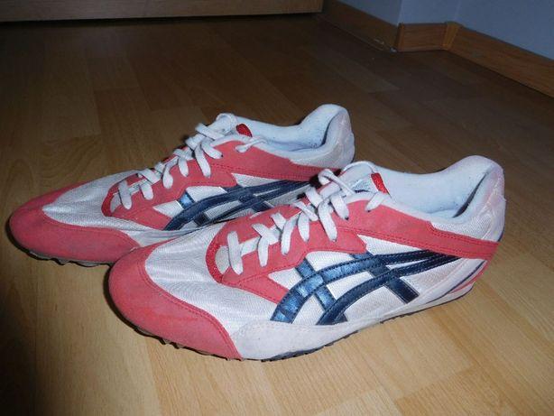 Buty, kolce biegowe, na bieżnie Asics + torba, rozm. 43.5/28cm TANIO!