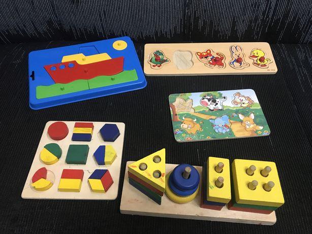 Вкладыши, деревянные игрушки, развающие игрушки