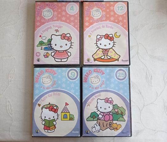 Dvd's infantis Noddy, Dora, Hello Kitty, Ursinho Rupert e Barbie