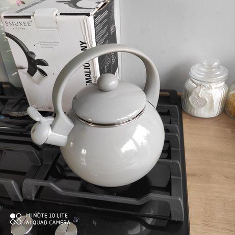 Nowy czajnik emaliowany 1.8 l do wszystkich kuchenek