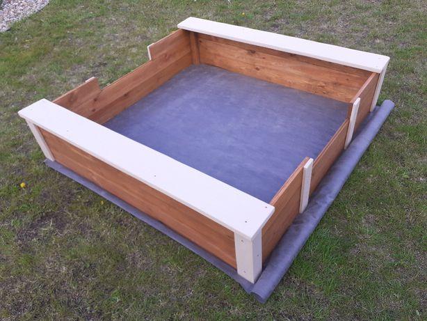 Duza drewniana piaskownica z przykryciem 1,5x1,5 lub inny wymiar