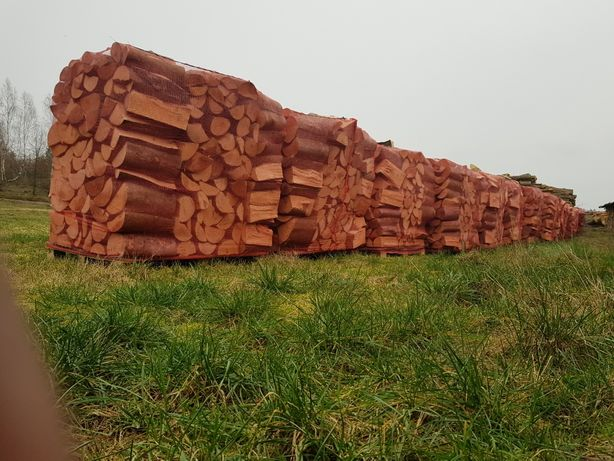 Drewno kominkowe paleta worek